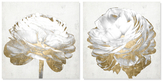 Oliver Gal White and Gold Light Floral (Canvas) (Set of 2)