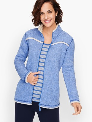 Talbots Sherpa Yoke Trim Jacket