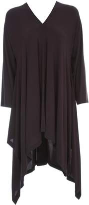 Issey Miyake Short Tunic Dress L/s V Neck