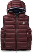 Moncler Amiens Quilted Shell Hooded Down Gilet