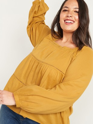 Old Navy Square-Neck Tiered Plus-Size Swing Top