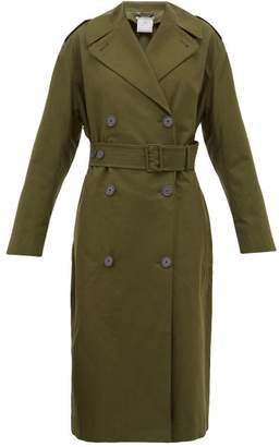 Stella McCartney Belted Cotton-canvas Trench Coat - Womens - Khaki