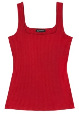 INC International Concepts Inc Square Neck Rib Tank, Created for Macy's