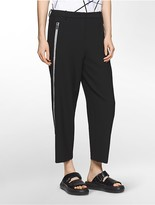 Calvin Klein Platinum Modern Stretch Zipper Seamed Pants