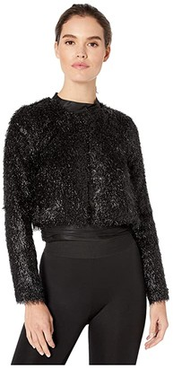 BCBGeneration Fuzzy Crop Jacket