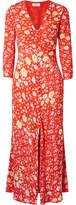 RIXO London - Katie Floral-print Crepe De Chine Maxi Dress - Red