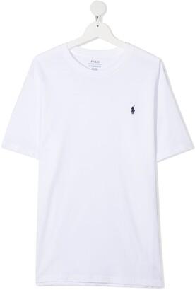 Ralph Lauren Kids TEEN logo-embroidered T-shirt