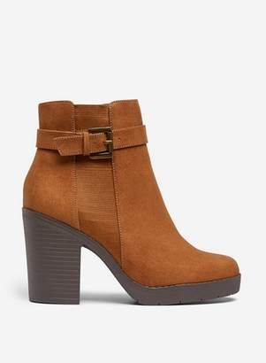 Dorothy Perkins Womens Wide Fit Tan 'Aggy' Ankle Boots