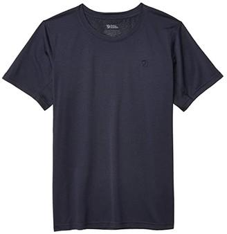 Fjallraven Abisko Mesh Short Sleeve (Shark Grey) Women's Clothing