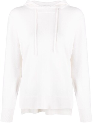 Allude Hooded Oversized-Fit Jumper