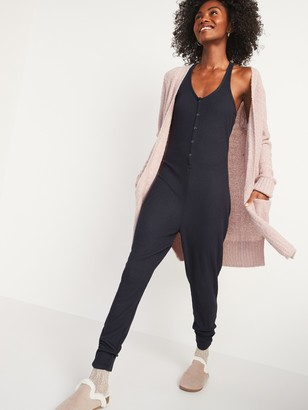 Old Navy Sleeveless Plush-Knit Pajama Jumpsuit for Women