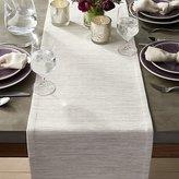 "Crate & Barrel Grasscloth 90"" White Table Runner"