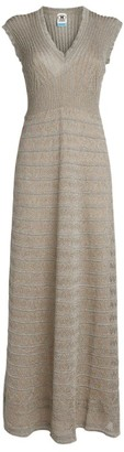M Missoni Metallic Knit Maxi Dress