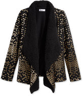 Epic Threads Girls' Metallic-Print Cozy Cardigan, Only at Macy's