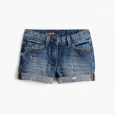 J.Crew Girls' cowgirl roll-up jean short