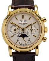 Patek Philippe 3970E 18K Yellow Gold Perpetual Calendar Chronograph Watch