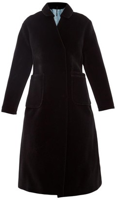Sara Lanzi A-line Velvet Coat - Black
