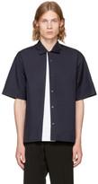 Marni Navy Panelled Sport Shirt