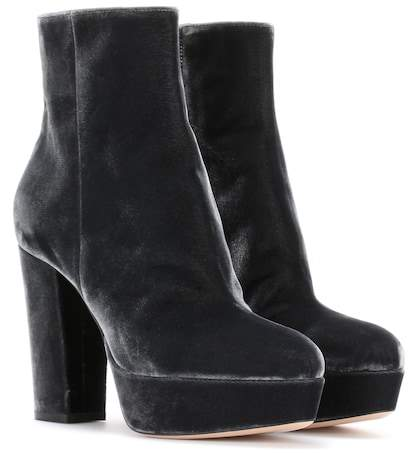 Gianvito Rossi Exclusive to mytheresa.com - Temple velvet ankle boots