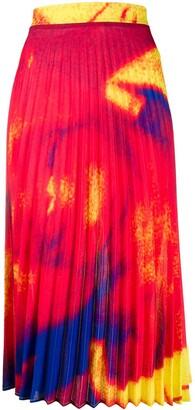 Thebe Magugu Pleated Midi Skirt