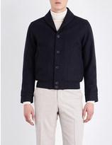 Richard James Shawl collar wool bomber jacket