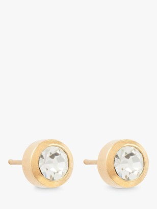 Susan Caplan Vintage Gold Plated Swarovksi Crystal Round Stud Earrings, Gold