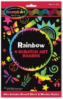 Melissa & Doug Scratch Art Rainbow Boards