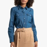 La Redoute Collections Denim Long-Sleeved Shirt with Pockets