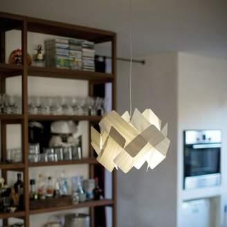 LZF Escape 1 - Light Unique / Statement Geometric Pendant Shade Color: Blue, Bulb Type: GU24