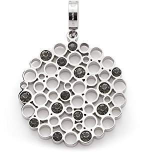 Jewels By Leonardo Leonardo Jewels women pendant Verena Darlin's stainless steel/silver colored glass Darlin's Clip small round circle ornament 016413