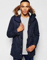 NATIVE YOUTH Sherpa Lined Parka Jacket