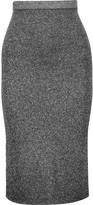 Sandro Jolan metallic stretch-knit midi skirt