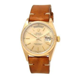 Rolex Day-Date 36mm Brown Yellow gold Watches