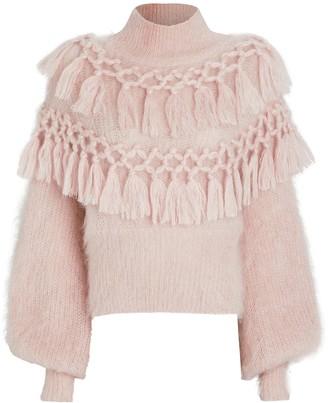 Zimmermann Ladybeetle Silk-Mohair Sweater