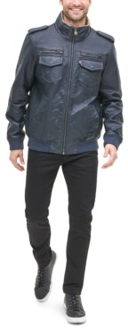 Levi's Men's Sherpa Lined Faux Leather Aviator Bomber