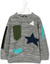 Armani Junior military patch jumper