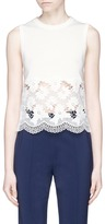 Alice + Olivia 'Somer' guipure lace panel sleeveless knit top