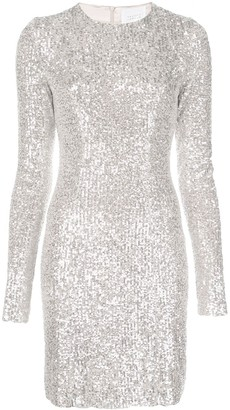 Galvan Metallic Sequin Dress