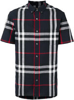 Burberry shortsleeved checked shirt - men - Cotton/Linen/Flax - XS