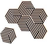 Areaware Table Tiles Optic coaster set - Black