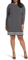 MICHAEL Michael Kors Plus Size Women's Nezla Border Print Jersey Shift Dress