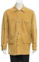 Brioni Shearling Suede Coat
