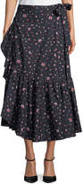 Rebecca Taylor Mia Floral-Print Wrap Skirt