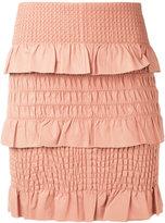 Drome textured skirt - women - Lamb Skin/Polyester/Viscose - S