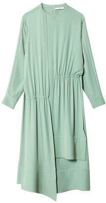 Tibi Modern Drape Open Back Dress