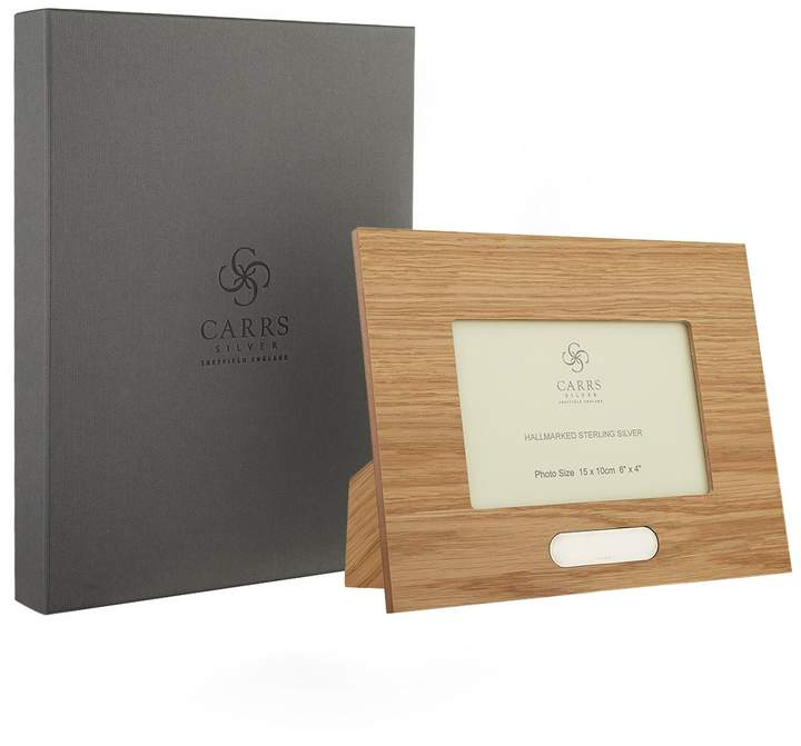 """Carrs of Sheffield Silver Oak Boardered Picture Frame (6""""x4"""")"""