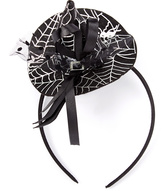 Beary Basics Silver & Black Witch's Hat Headband