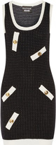 Moschino Polka-dot stretch-knit mini dress