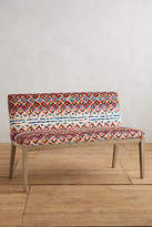 Anthropologie Medina Diamond-Printed Emrys Bench