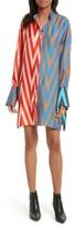Diane von Furstenberg Women's Bell Sleeve Silk Shirtdress
